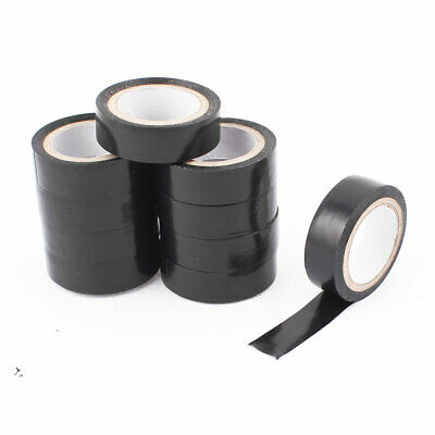 3 PCS 5M x 15mm Self Adhesive Tape Roll Black Red for Electrical Wire Insul W1T8