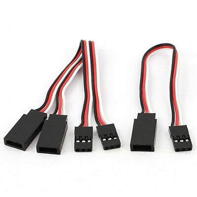 5Pcs 150mm 3 Terminal M/F RC Servo Extension Cord Cable Wire for RC Airplane