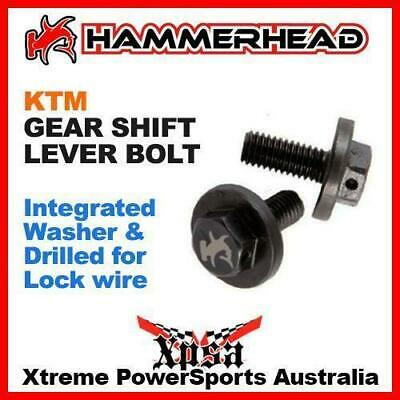 HAMMERHEAD KTM GEAR SHIFT LEVER BOLT MX BIKE incl. WASHER & DRILLED for LOCKWIRE
