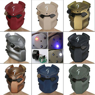 Airsoft Paintball Full Face Protection Mask Infrared Light CS Tactical Gear UK