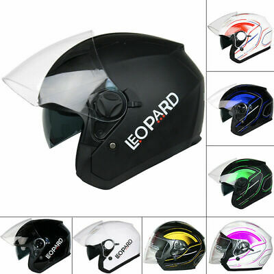 Leopard LEO612 DVS Open Face Scooter Motorbike Motorcycle Helmet Crash Sun Visor