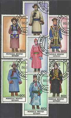 Timbres Folklore Mongolie 1410/6 o lot 7387