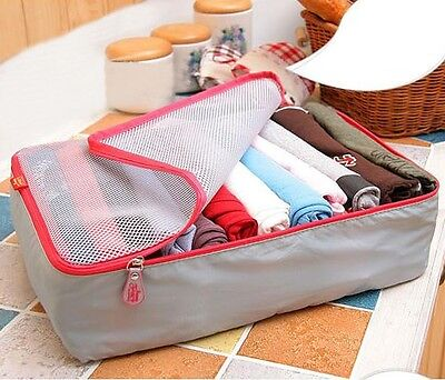 3PCS Packing Cube Pouch Suitcase Clothes Storage Bags Travel Luggage Organizer