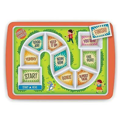 NEW FRED Dinner Winner Fun Childrens Food Plate - Start Finish Line - Treat!