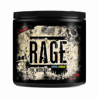 Warrior RAGE PRE-WORKOUT Supplement 45 Servings; All Flavours