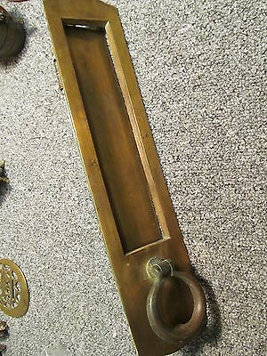 Large Early  brass letterbox and door knocker fits doors up to 2 inch thick