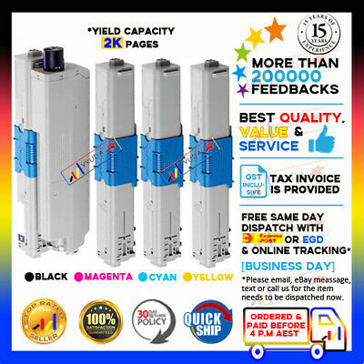 4x for OKI Toner Cartridges C510 C511 C511DN C531DN MC-562 DN MC562DNW printers