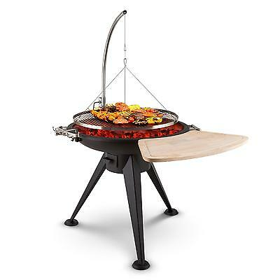 Home Garden Free Swinging Hanging Bbq Grill & Fire Pit Bowl Tripod Wood Charcoal