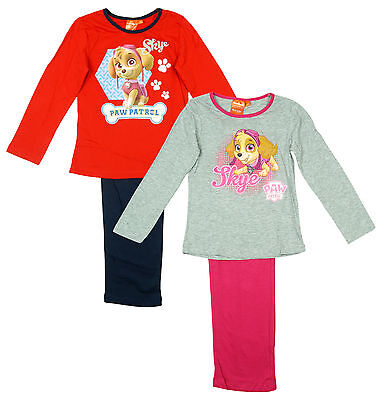 3bdabe159d Girls Official Paw Patrol SKYE Puppy Dog Long Cotton Pyjamas 3 4 5 6 Years