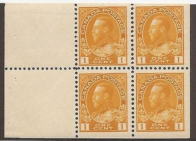 CANADA #105a MINT BOOKLET PANE VF