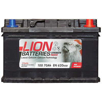 Lion Batteries Car Battery 12V 70Ah Type 100 620CCA Sealed 3 Years Warranty