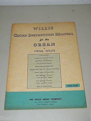 Willis Chord Instruction Manual Vintage 15798 Organ