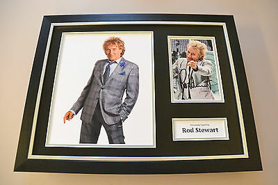 Rod Stewart Signed Framed 16x12 Photo Autograph Music Memorabilia Display + COA