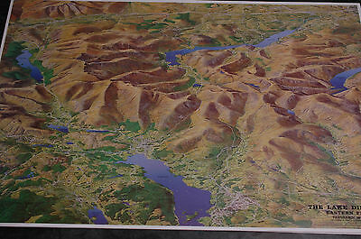 3D Aerial Panoramic Map of Lake District Eastern Fells No19 Unusual Gift Idea