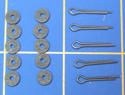"For Jointed Teddy Bear = 10 - 1/4"" Hardboard Discs 5 - Cotter Pins"