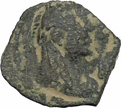 King Rabbel II Gamilat Arab Caravan Kingdom of Nabataea 101AD Greek Coin i50418