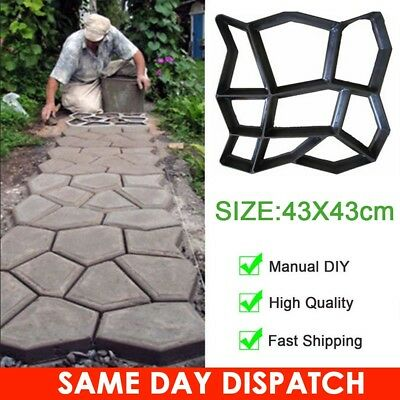 Garden Walk Maker Paving Mould for Driveway Path Brick Patio Concrete Slabs UK