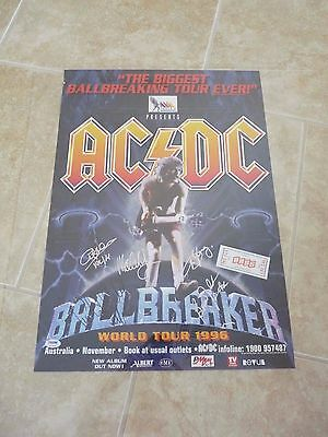 AC/DC Signed Autographed Poster PSA Certified 1996 Ballbreaker Australia Tour