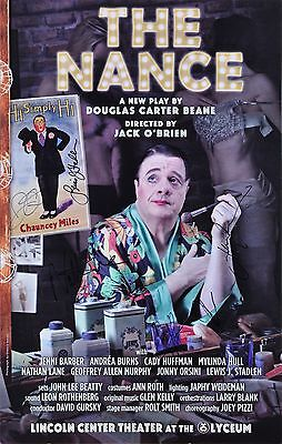 The Nance Cast Signed Broadway Window Card - Nathan Lane