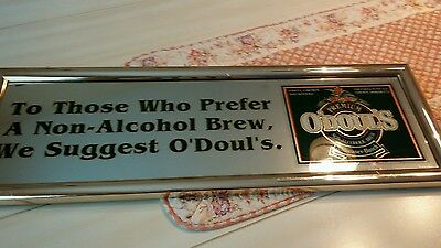 O'Doul's beer sign mirror N/A Anheuser-Busch brewery pub tavern bar vintage UD7