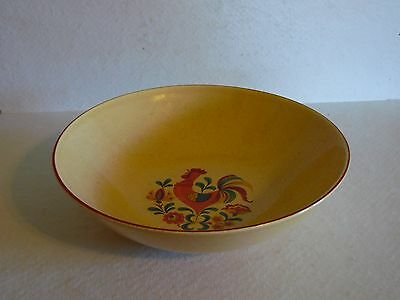 Vintage Reveille Rooster 9 Inch Round Vegetable Serving Bowl Taylor Smith Taylor