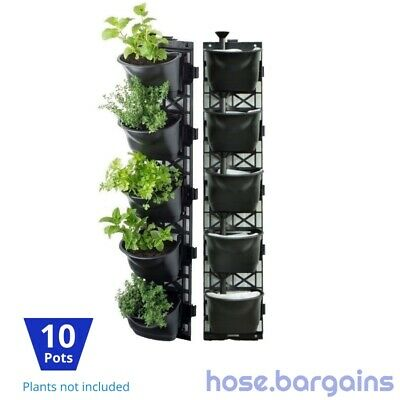 Vertical Garden Kit 10 Pots - Green Wall Hanging Planter Box DIY Herb Succulent