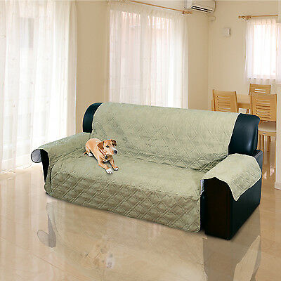2 / 3 Seater Quilted Sofa Cover Couch Protector Pet Dog Cat Mat Throw Slipcover