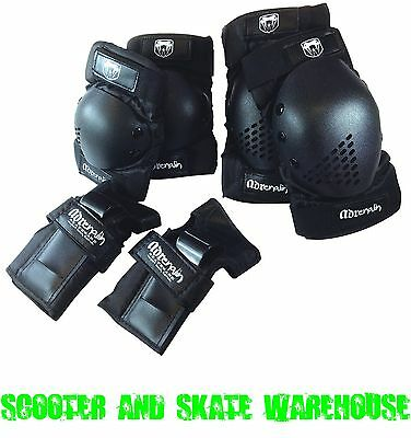 Adrenalin Skate Scooter Protection - Elbow Pads, Knee Pads, Wrist Guards 6 Piece