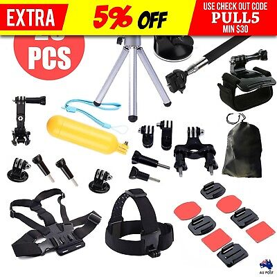 28in1 Accessories Pack Case Chest Head Monopod For GoPro Go pro HD Hero 4 3+ 3 2