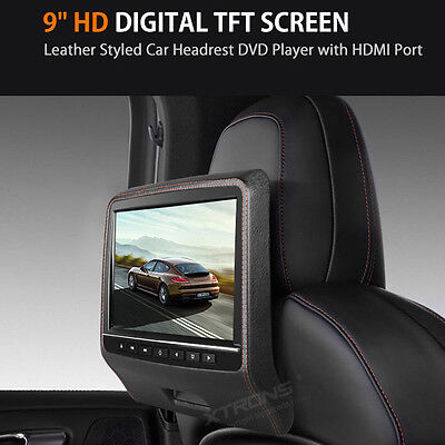 XTRONS In Car DVD Entertainment System Headrest Monitor HDMI/SD/USB/Game Black