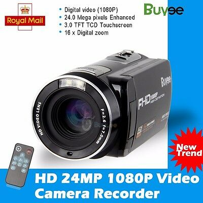 "Buyee 24MP 3.0"" LCD Touchscreen Digital Video Camera Camcorder DV Full HD 1080P"
