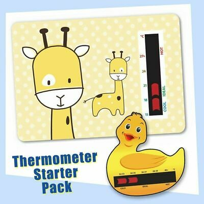 Baby Safe Ideas Giraffe Nursery Room Thermometer and Duck Bath Thermometer