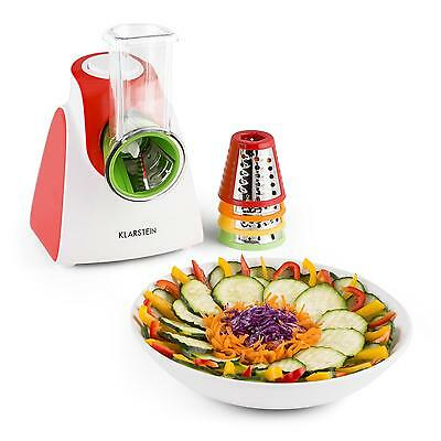 150W Electric Vegetable Cutter & Fruit Slicer Nuts Cheese Grater Machine - Red