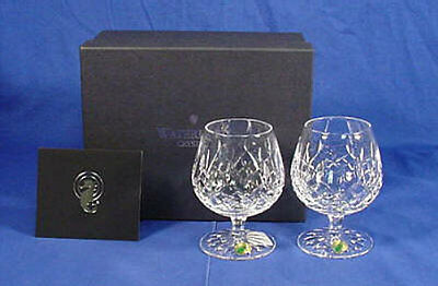 2 Waterford Crystal 12 OZ Brandy Balloon Snifters LISMORE NIB