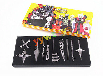 Anime Naruto Shippuden Set 10 Cosplay Konoha Weapon Sword Metal New In Box