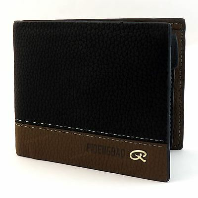 Mens Luxury Soft Quality Leather Wallet Credit Card Holder Purse Black ID Window