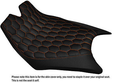 Hex Orange Stitching Custom Fits Ktm Rc8  Front Rider Real Leather Seat Cover