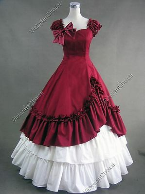 Southern Belle Victorian Old West Saloon Gown Reenactment Halloween Costume 208