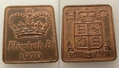 Collectable Royal Mint Proof Year Medallion Medal Token 1970 - Elizabeth R