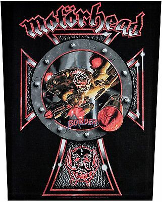 XLG Motorhead Bomber Rock Music Woven Back Jacket Patch Applique