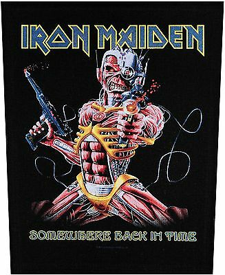 XLG Iron Maiden Somewhere Back In Time Rock Music Woven Jacket Applique Patch