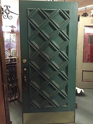 "Old Antique Vintage Spanish Style Front Door 79"" X 35.5"" With Original Hardware"