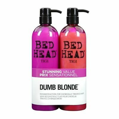 TIGI Bed Head Dumb Blonde 750m Duo Pack Shampoo & Conditioner Hair Haircare