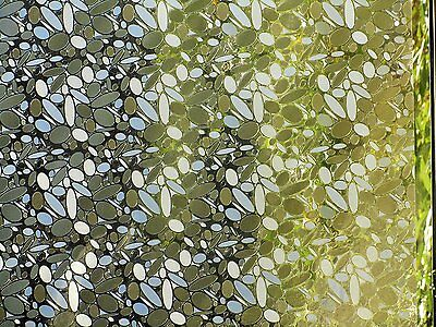 Textured Decorative Window Static Film Stained Glass Frosted Vinyl Privacy Paper