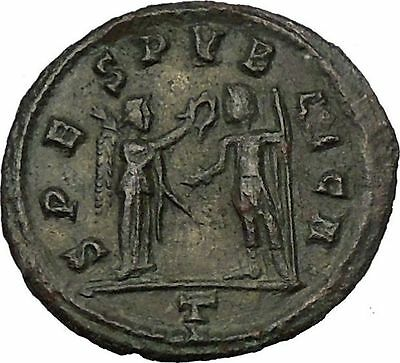 Tacitus receiving wreath from Victory Rare 275AD  Ancient Roman Coin  i52711