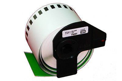 1 ROLL GREEN DK22205 DK 22205 BROTHER COMPATIBLE CONTINUOUS LABELS 62mm x 30.48m