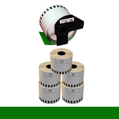 5+1 ROLL GREEN DK22205 DK 22205 BROTHER COMPATIBLE CONTINUOUS LABELS 62mmx30.48m