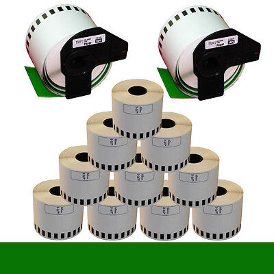 10+2 ROLL GREEN DK22205 DK 22205 BROTHER COMPATIBLE CONTINUOUS LABEL 62mmx30.48m