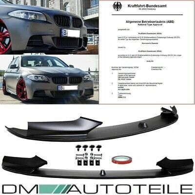 BMW 5er F10 Limousine F11 Touring Frontspoiler Lippe M-Performance Look aus ABS
