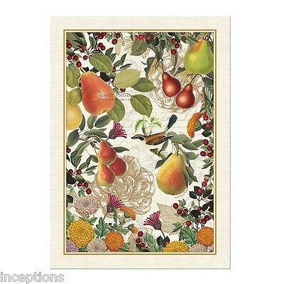 Michel Design Works Cotton Kitchen Tea Towel Golden Pear - NEW
